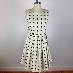 Anthropologie Eva Franco Polka Dot Tea Dress
